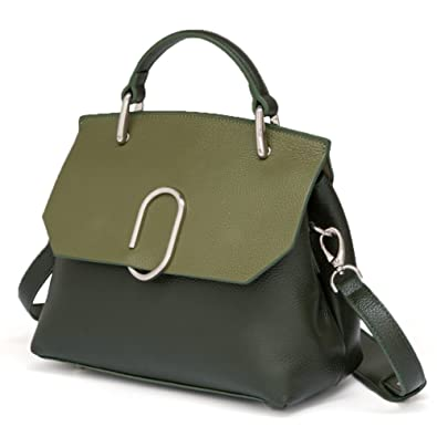 Amazon.com  FIGESTIN Women Genuine Leather Designer Handbags Purse Ladies  Trapeze Top Handle Tote Satchel Shoulder Crossbody Bags  Shoes b5efe6343a1c3