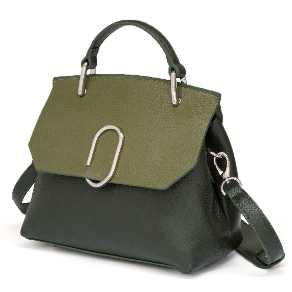 On Clearance - FIGESTIN Women Genuine Leather Designer Handbags Purse Ladies Trapeze Top Handle Tote Satchel Shoulder Crossbody Bags