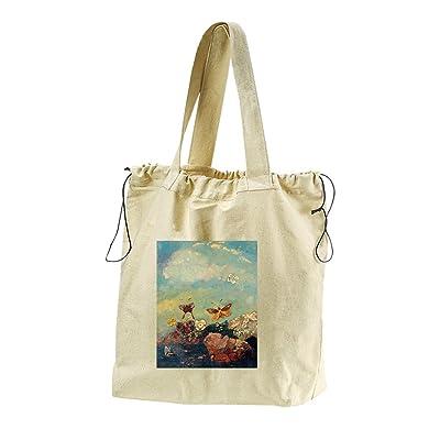 9137301d1 Butterflies (Odilon Redon) Canvas Drawstring Beach Tote Bag new ...
