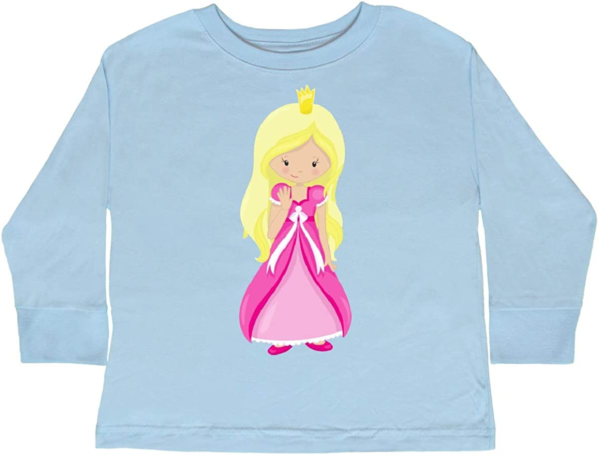 Princess in Pink Dress inktastic Cute Princess Toddler Long Sleeve T-Shirt