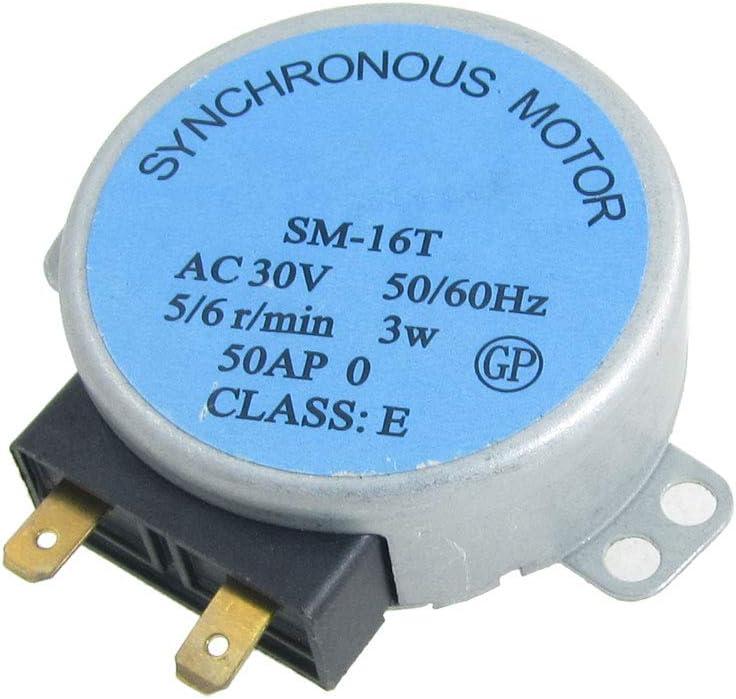 sourcingmap Motor síncrono redondo 5/6R/MIN AC 30V PARA HORNO MICROONDAS