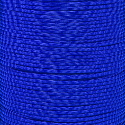ParacordPlanet 250' Spool of Type III 550 Paracord - Electric Blue