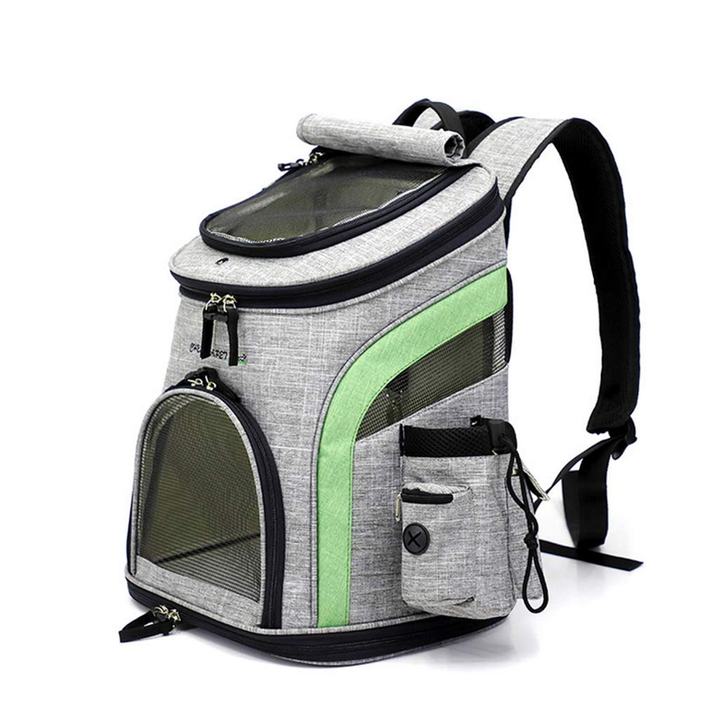 Pet Carrier Backpacks Mesh Top Opening Foldable Outdoor Travel Bag for Dogs and Cats Suitable for Pets of 7.5kg (24  31  39cm)