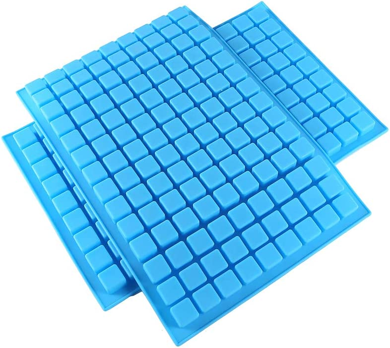 DIFENLUN Silicone Candy Molds, 2 Pack 126-Cavity Mini Square Chocolate Molds for Gummy Jelly Truffles Pralines Caramels, Ice Cube Tray Molds