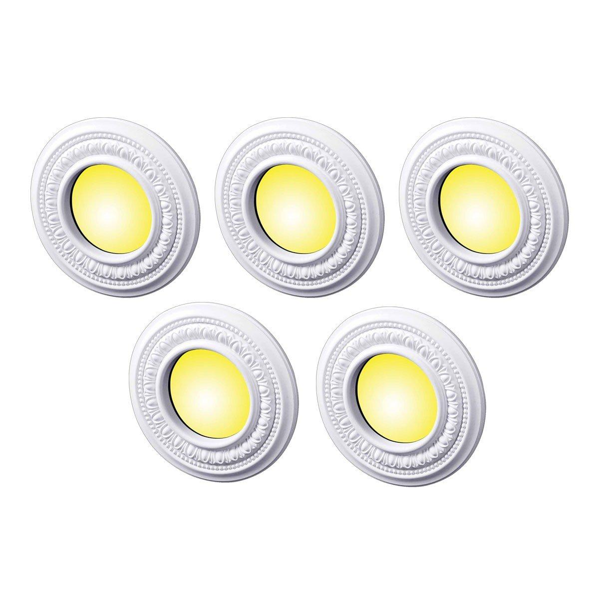 Spot Light Trim White Urethane Foam Recessed Light Trim 4 ID Set Of 5