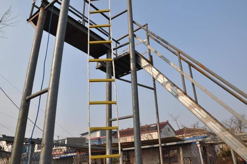 YXIAOL Escalera De Cuerda De Escape De Incendio 5/10 Metros Escalera De Evacuación Emergencia para Adultos Niños Escalera De Seguridad con Ganchos para Rescate Escape Fuerte Plegable,10M: Amazon.es: Deportes y aire libre