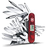 Victorinox Swiss Army Knife Swiss Champ XAVT, Red Translucent