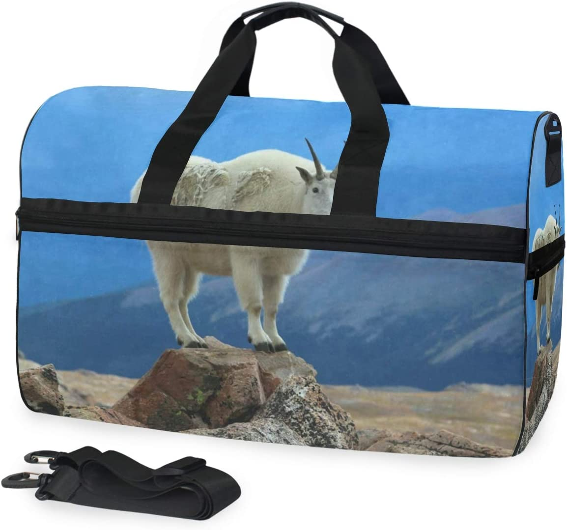 Gym Bag Mountain Goat Duffle Bag Large Sport Travel Bags for Men Women