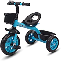 Little Olive Bugs Bunny Baby Tricycle / Kids Trike / Bicycle / Ride On with Safety Harness | Suitable for Boys & Girls - (1 to 4 Years) (Blue)