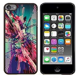 Eason Shop / Premium SLIM PC / Aliminium Casa Carcasa Funda Case Bandera Cover - Art City Vortex trullo Rosa - For Apple iPod Touch 6 6th Touch6