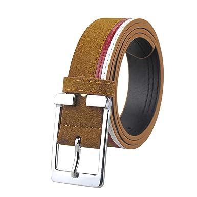 Amazon.com: Cinturones de cuero de ante para hombre, hebilla ...