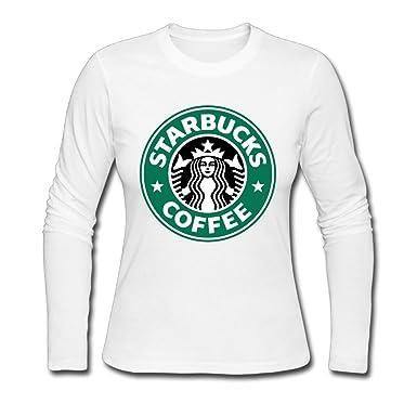 Anabel Damens Starbucks Coffee Logo Long Sleeve T Shirts Small