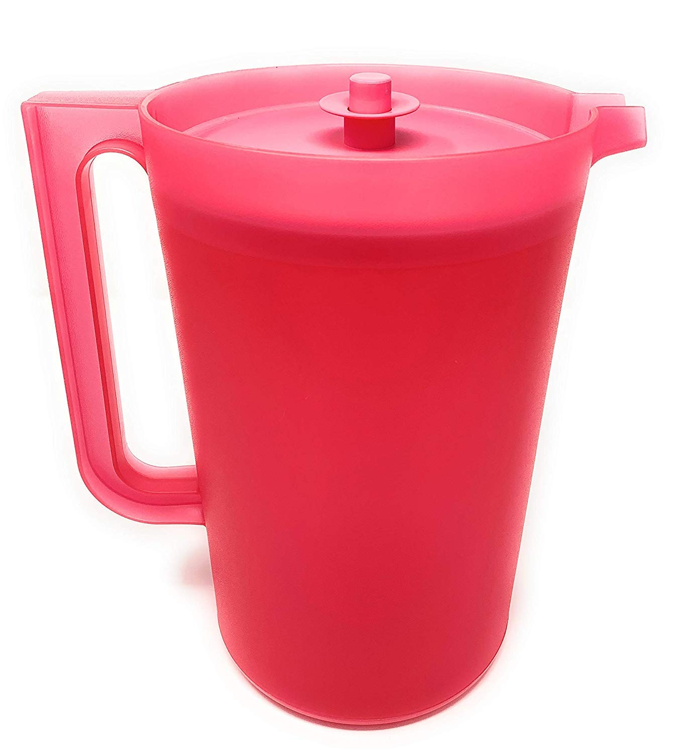Tupperware New One Gallon Pitcher in Pink with Push Button Seal