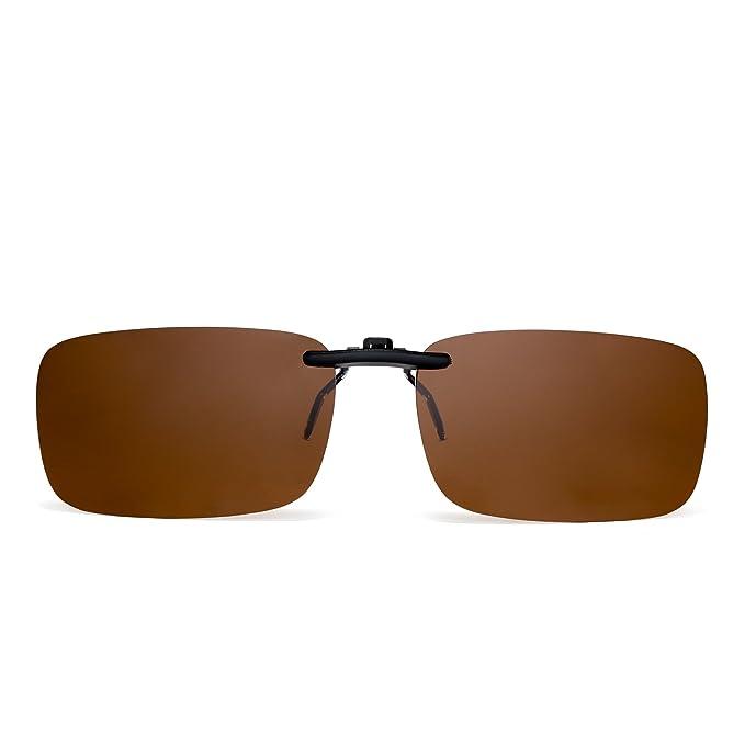Amazon.com: Sin montura Rectángulo Clip en anteojos de sol ...