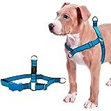 V-Dank 犬 ハーネス 胴輪 調節可能 小型犬 中型犬 大型犬 ドッグ ペット用品 前引き 軽量 ハーネス リード 簡単着脱 引っ張り防止 散歩 お出かけ 訓練 ナイロン製 (S)