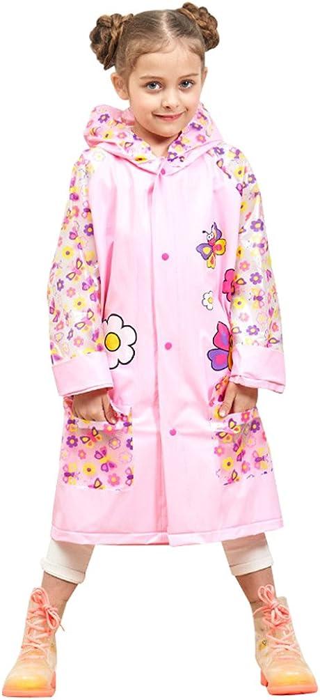Laus Giacca impermeabile ragazza cappotto impermeabile cappuccio con stampa animalier