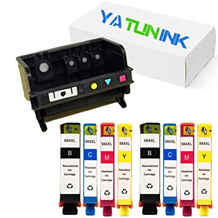 yatunink 4 ranuras 564 x l cabezal de impresión cartucho de tinta ...