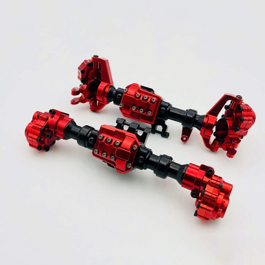 Faironly 2PCS Set Involucro in Alluminio Anteriore Posteriore portale Assi per Traxxas TRX-4 Crawler Rosso