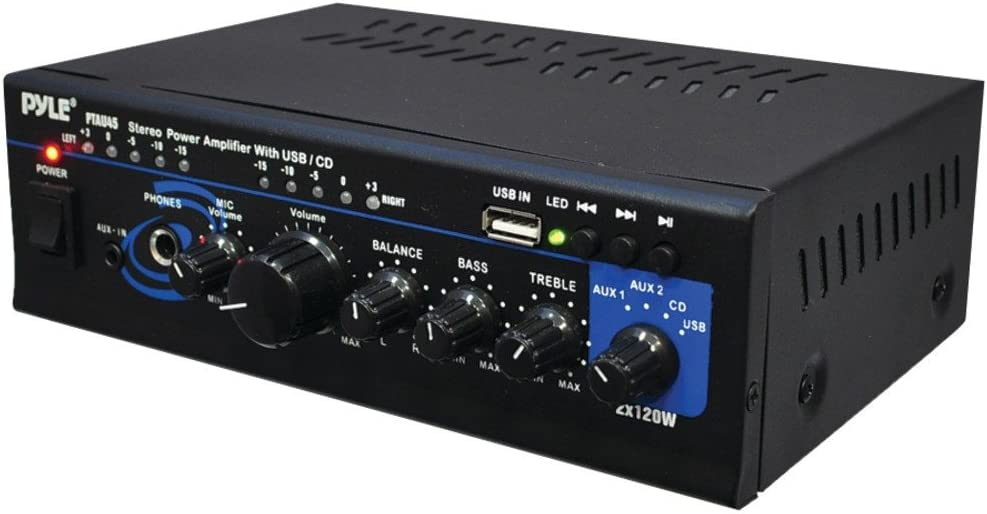 Pyle Mini 2X120 WATT Stereo Power PTAU45