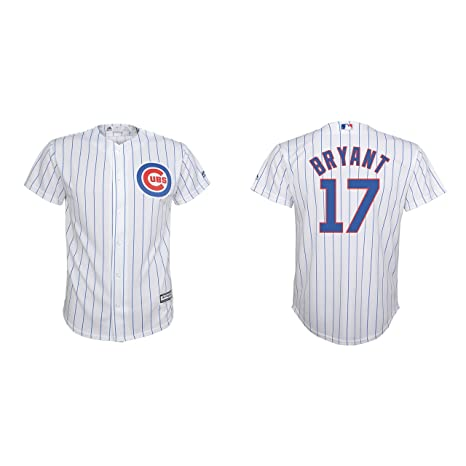 newest 0b437 c8977 Majestic Kris Bryant Chicago Cubs White MLB Youth Cool Base Replica Home  Jersey