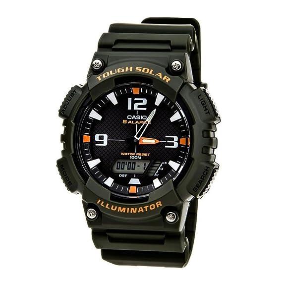 CASIO CHF-100-1VER - Reloj Digital de Cuarzo con Correa de Resina Unisex, Color Verde Oscuro