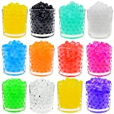 12 Pack Water Beads Jelly Crystals Balls Vase Filler for Decoration and Sensory Play (10 grams per pack)