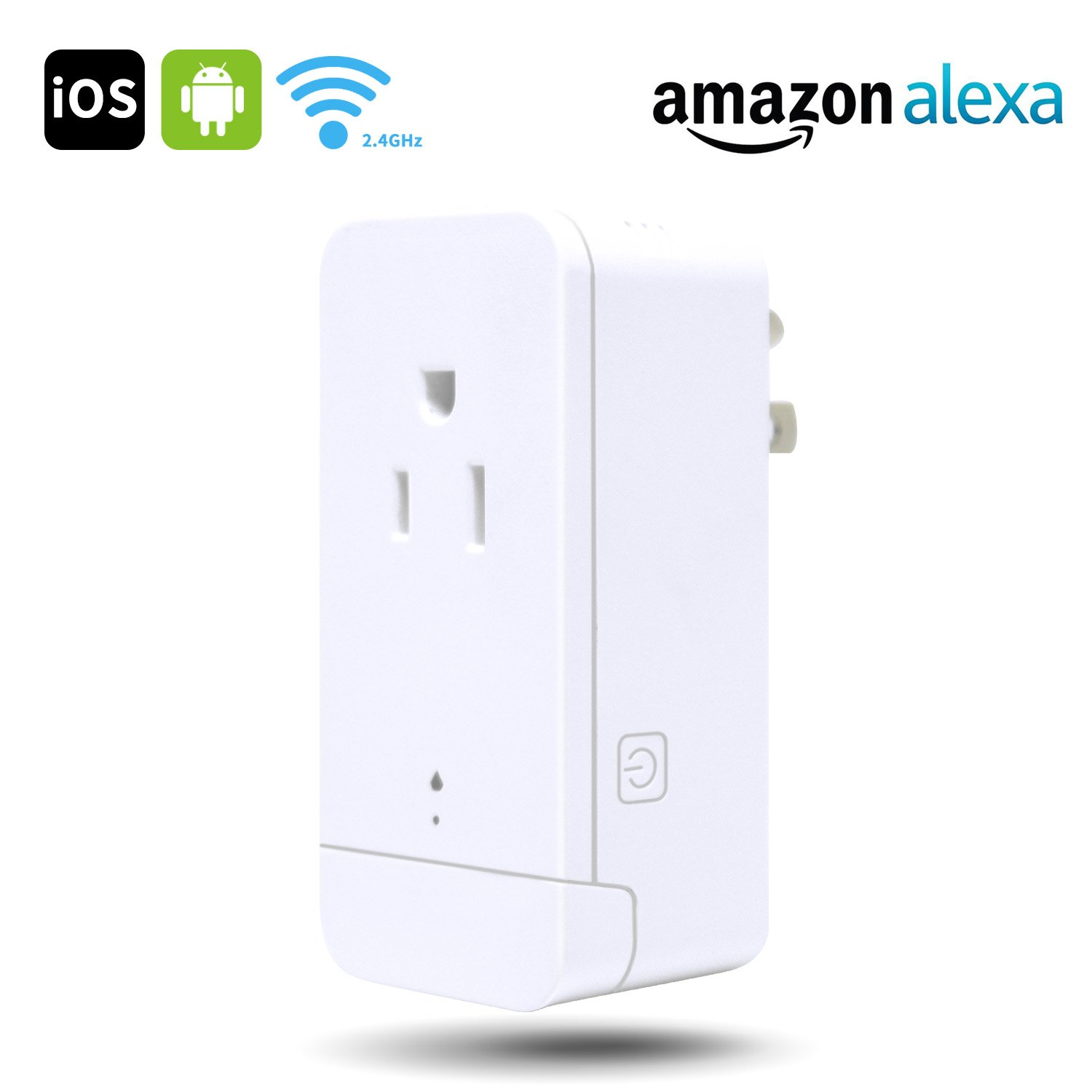Wifi Smart Plug - SMART4U Mini Smart Outlet Compatibles with Amazon Alexa,No Hub Required-(1 Pack)