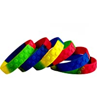 Eventitems 48 Pack Silicone Bracelets for Kids - Kids Birthday Party Wristbands - Kids Size