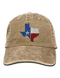 HU MOVR Cowboy Hat US Air Force Vintage Washed Dyed Cotton Adjustable Denim