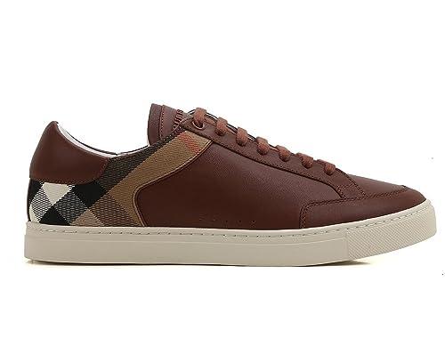 73a2f6968b Burberry Sneakers Scarpe Uomo in Pelle e Tessuto Modello 4038151 ...