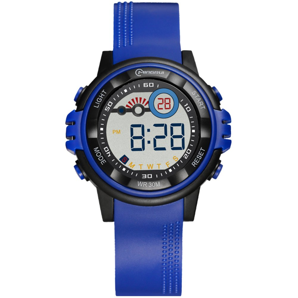 [child] Electronic watches,Water resistant 30 m lives Digital stopwatch Luminous Alarm Simple [lovely] Student Chronograph stopwatch-E by FXBNHDFMF
