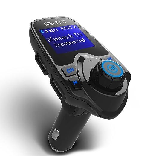 10 opinioni per GooBang Doo Trasmettitore FM Bluetooth, Chiamate Hands-free per Auto, Lettore