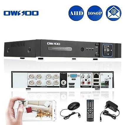 OWSOO 8CH DVR 1080N Grabador de Video H.264 P2P Network CCTV ...