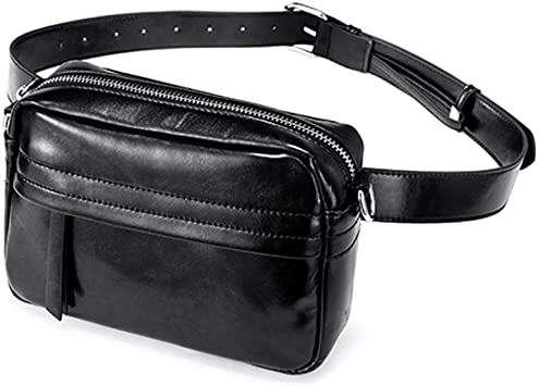 Bolsa de Cintura, Cinturón de Correr, Women Belt Bags Fashion PU Leather Waist Pack Cross-Body Messenger Bag For Women New Waist Bag For Ladies Black: Amazon.es: Equipaje