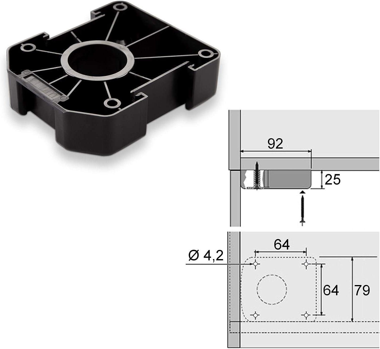 SO-TECH/® Juego de 20 Z/ócalo Mueble Cocina Patas Pl/ásticas Pies para Mueble Patas Regulables Alto 185 mm