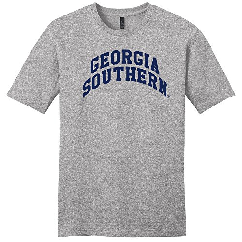 Campus Merchandise NCAA Georgia Southern Eagles Arch Soft Style T-Shirt, Medium, Light Heather Grey