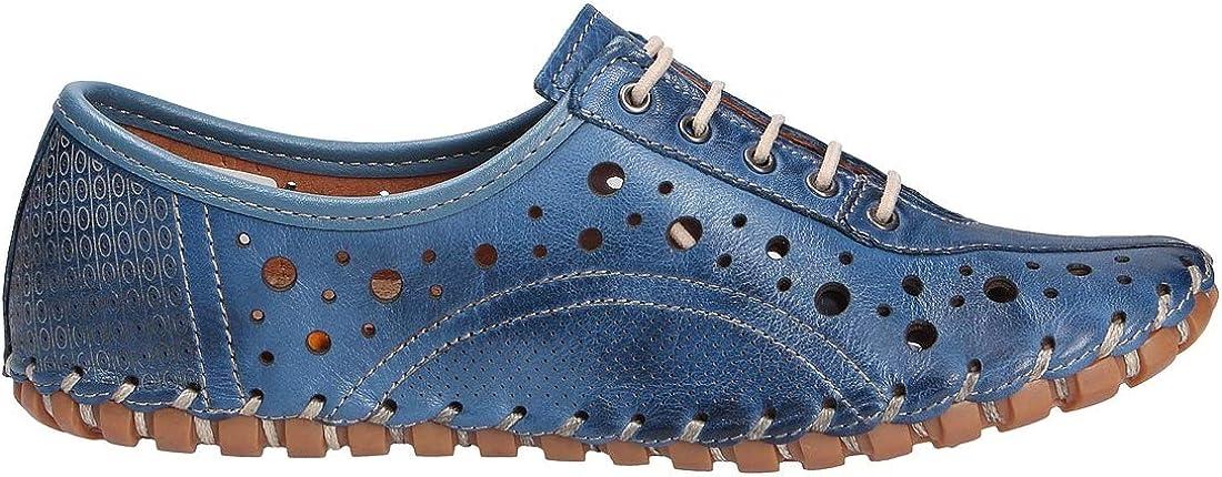 Gemini 031222-02 Scarpe in Pelle da Donna Blu