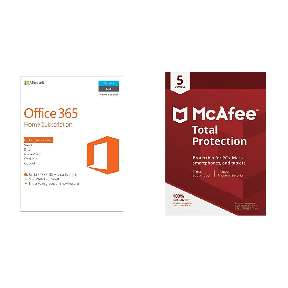 Microsoft Office 365 Home + McAfee Total Protection: Amazon.co.uk ...