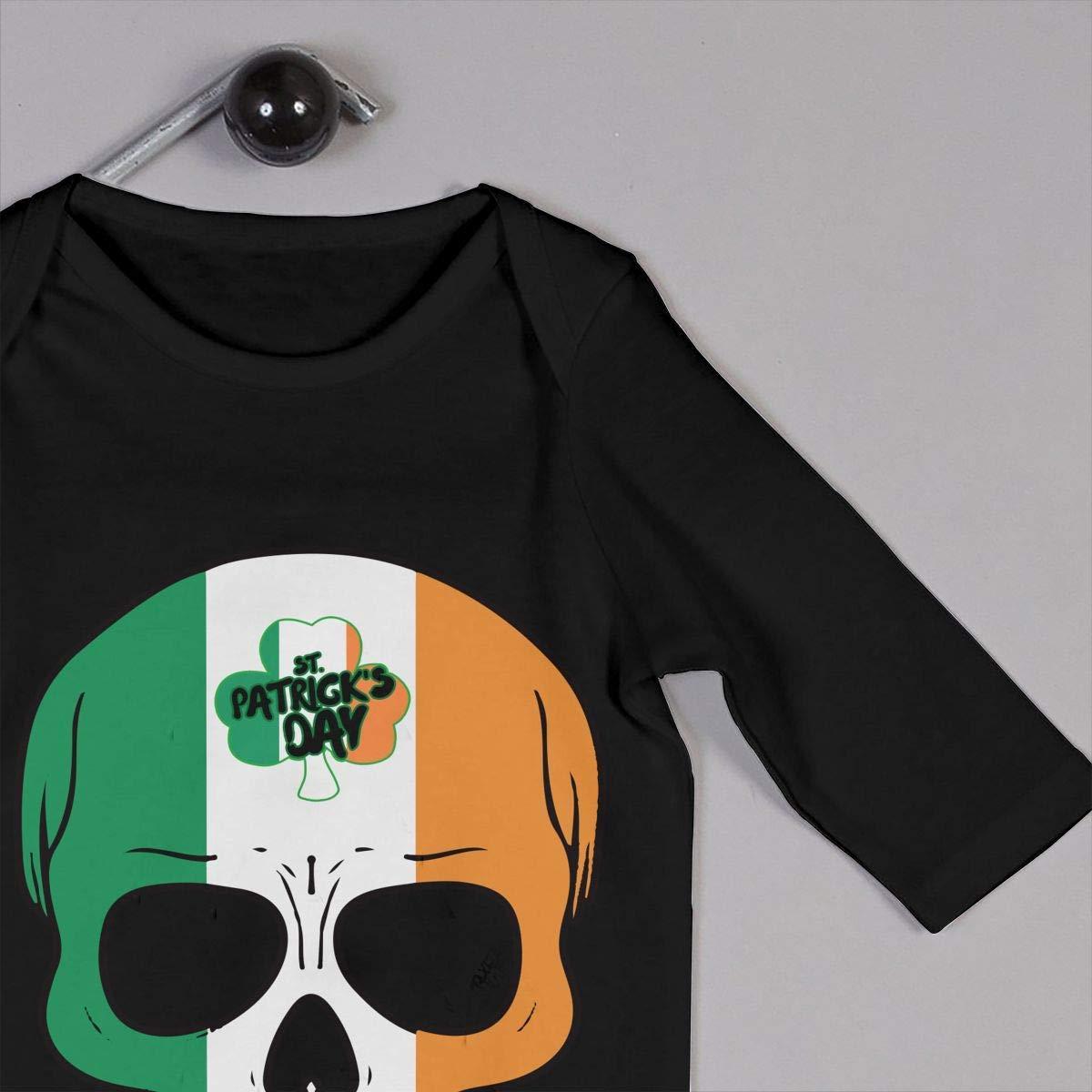 Patricks Day Toddler Jumpsuit TYLER DEAN Newborn Baby Long Sleeved Coveralls Irish Skull St