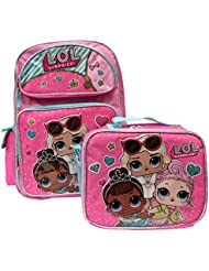 L.O.L Surprise! Small Backpack 16 & Lunch bag 2pc set Pink School Bag Girls LOL