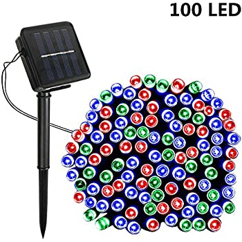 Solar String Lights,SOLMORE 55.8ft /17M 100 LED Solar Outdoor Fairy String Lights Starry Fairy Lights,Ambiance Lighting Waterproof for Holiday Wedding Gardens Home Party Patio Decor MuiltiColor