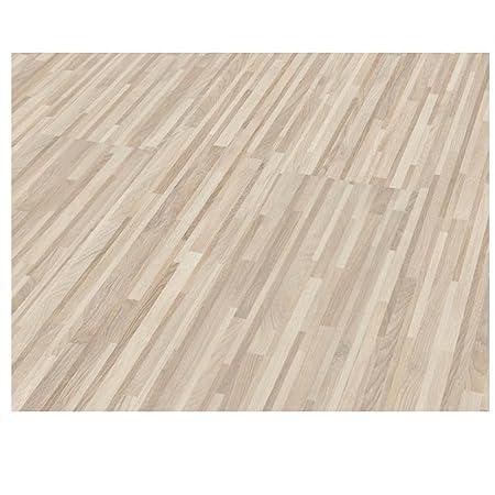 Westco H474442 8mm Zebrano Fine Laminate Flooring Plank White