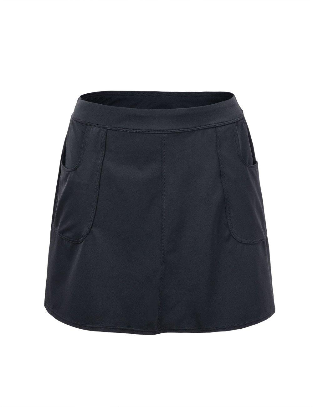HilorレディースUPF 50 + Athletic Skirted Bikini Bottom Swim Bottom Skort Tankinis Swimdress B01N99HTE4 ブラック 10