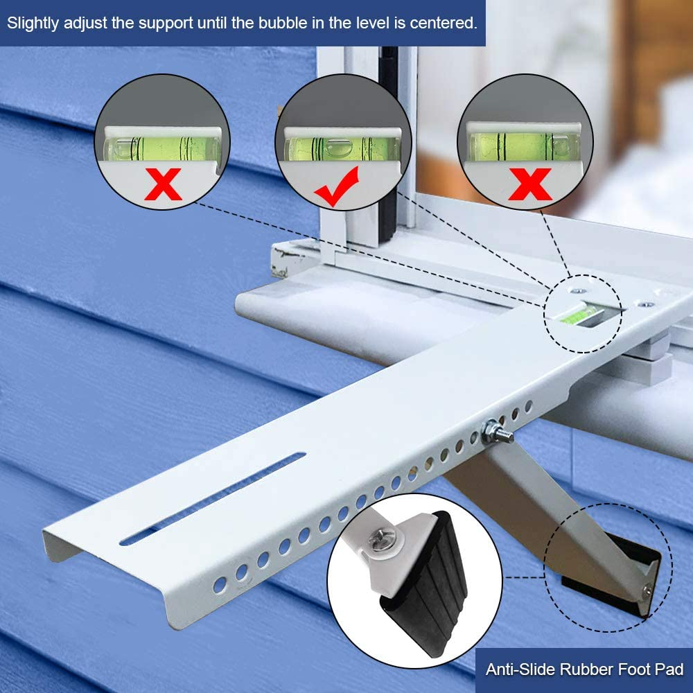 ONELIGHT Universal AC Window Air Conditioner Support Bracket Heavy Duty,Up to 160lbs