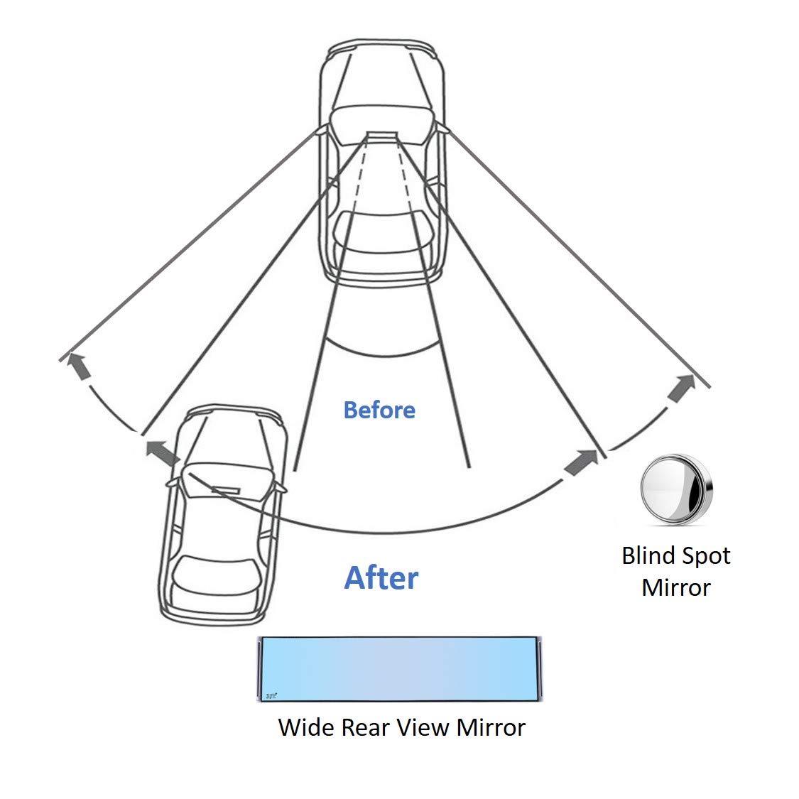 clip interna universale antiriflesso su specchietto retrovisore per auto camion Specchietto retrovisore auto grandangolare SUV