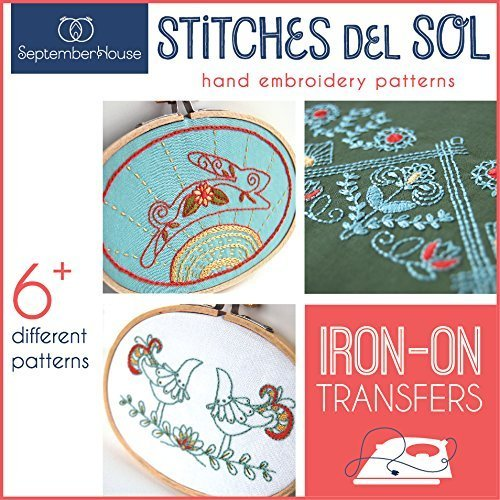 Stitches de Sol Hand Embroidery Patterns Mexican Folk Art Inspired Iron On Transfers