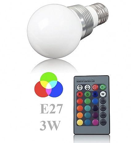 (Energía: A) Bombilla LED + 1 mando a distancia Cambio de color Lámpara