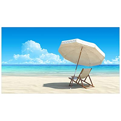 Puzzle 500 Piece for Adult Blue Sky, White Clouds, Beach Chairs, Landscape Decorative Paintings: Toys & Games