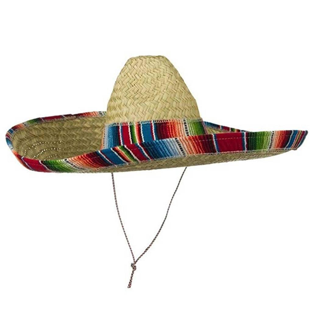 f56c9ab7850 Amazon.com  Jacobson Hat Company Mexican Sombrero Hat Adult Costume Spanish Fiesta  Cinco de Mayo Festive Salsa