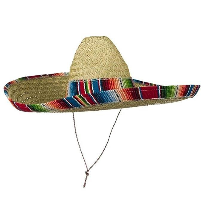 93684f63 Amazon.com: Jacobson Hat Company Mexican Sombrero Hat Adult Costume Spanish  Fiesta Cinco de Mayo Festive Salsa,Multi-color,One Size: Clothing
